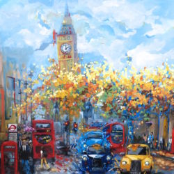 large london painting of westminster