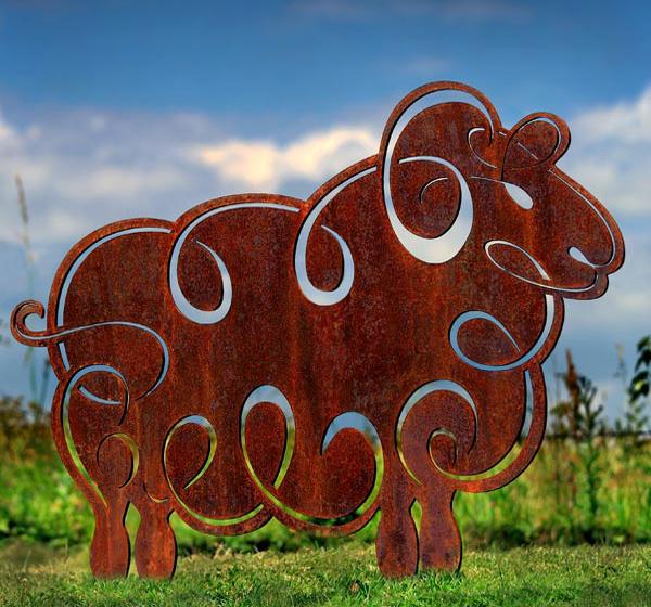 Sheep Metal Garden Sculpture. £425.00. 🔍. Rusted ...