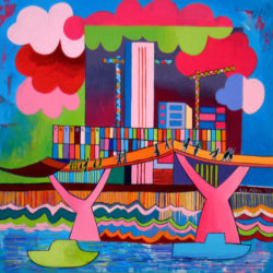 colourful painting of tate modern london