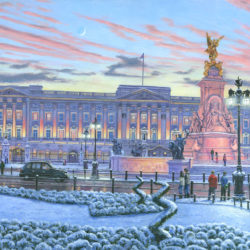 painting of buckingham palace by richard harpum