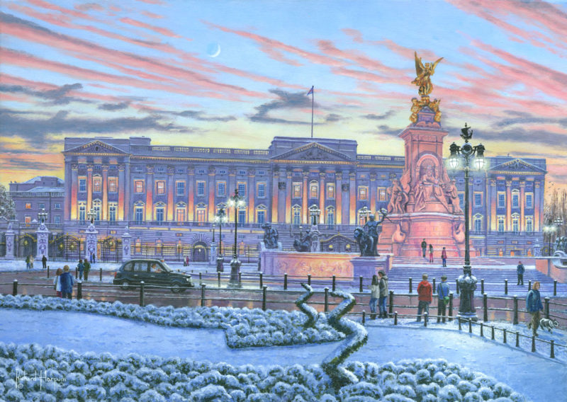 painting of buckingham palace by richard harpum