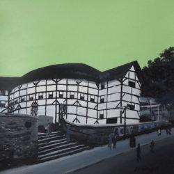 painting of shakespeare's globe theatre