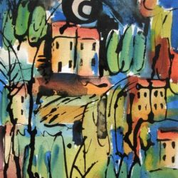 abstract Tuscany painting