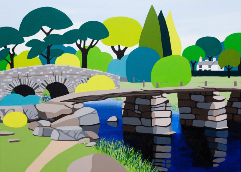 Postbridge artwork print by shirley netherton