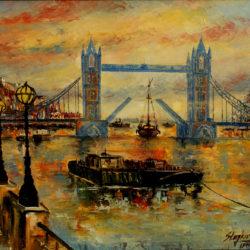 tower bridge original painting
