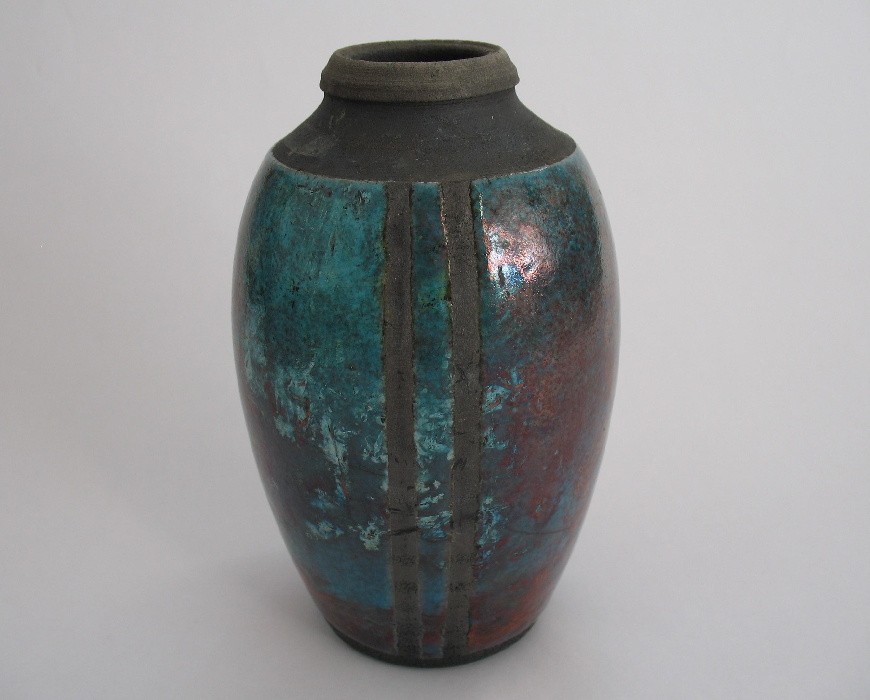 Copper Raku Bottle