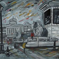 trafalgar square painting for sale