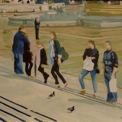 london trafalgar square painting for sale