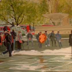 trafalgar square london painting