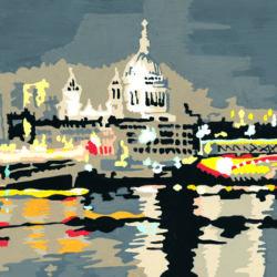 panoramic painting of london