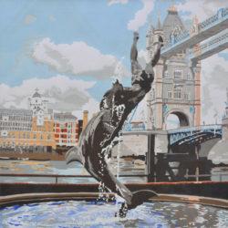 original apinting of tower bridge sculpture