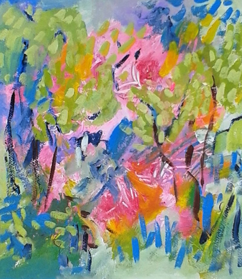 A summer landscape painting by Jan Rippingham.
