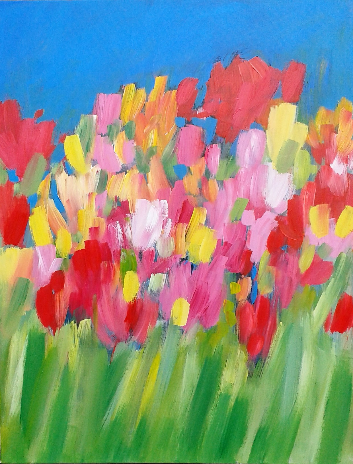 the height of summer a large floral abstract art rippingham art