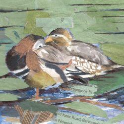 mandarin ducks watercolour painting