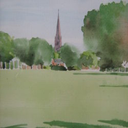 salisbury cathedral watercolour painting for sale