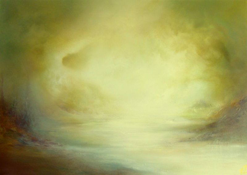 atmospheric contemporary painting by Gill Luff