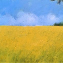 Wheatfields Hampshire by Jan Rippingham