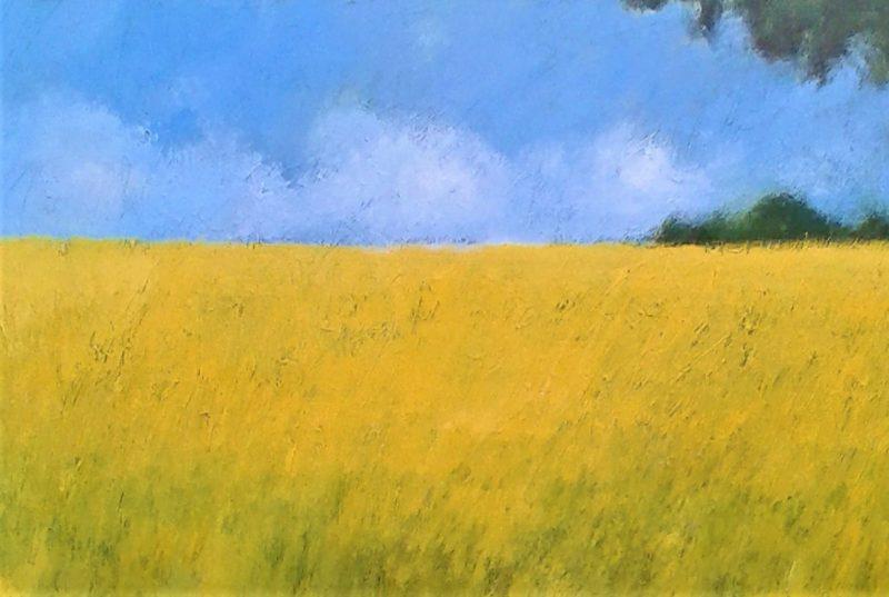 Wheatfields Hampshire by Jan Rippingham