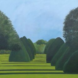 Hampton Court gardens painting acrylics on canvas