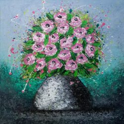 VASE WITH ROSES by cinzia mancini