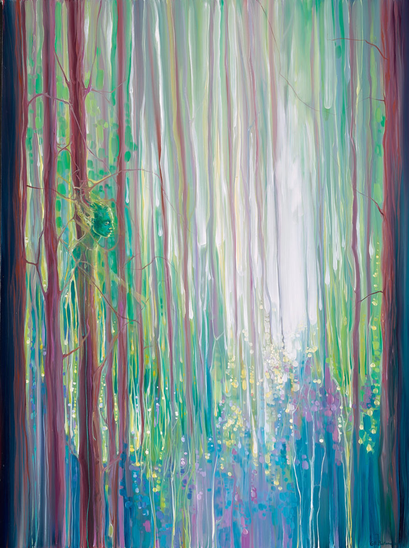The Dryads Bluebell Wood by gill bustamante
