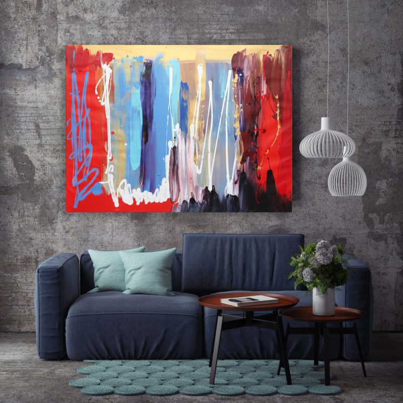 LARGE ABSTRACT original painting paresh nrshinga