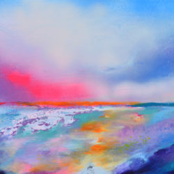 panoramic abstract seascape painting for sale inbold colours