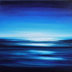 Into the Deep Blue Sea (seascape) by julia everett
