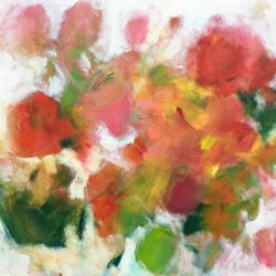 garden roses painting by jan rippingham
