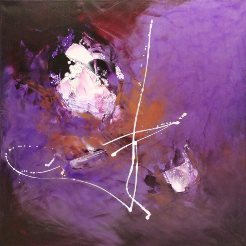 lilac original painting by Paresh Nrshinga