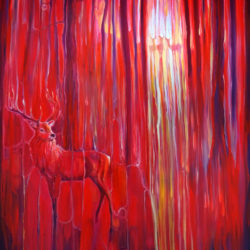 Red Forest Calls by gill bustamante