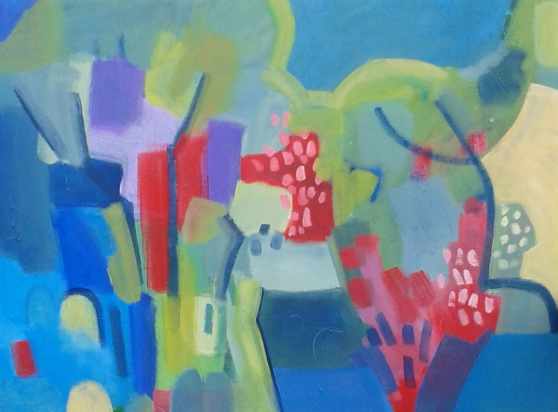LARGE summer garden vii large abstract painting