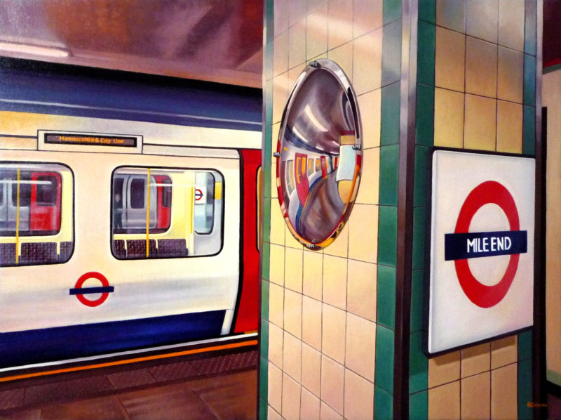 original cityscape painting london underground