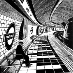 waterloo underground station print
