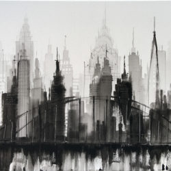 New York Skyline Black and White