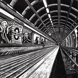 bethnal greeun underground london print