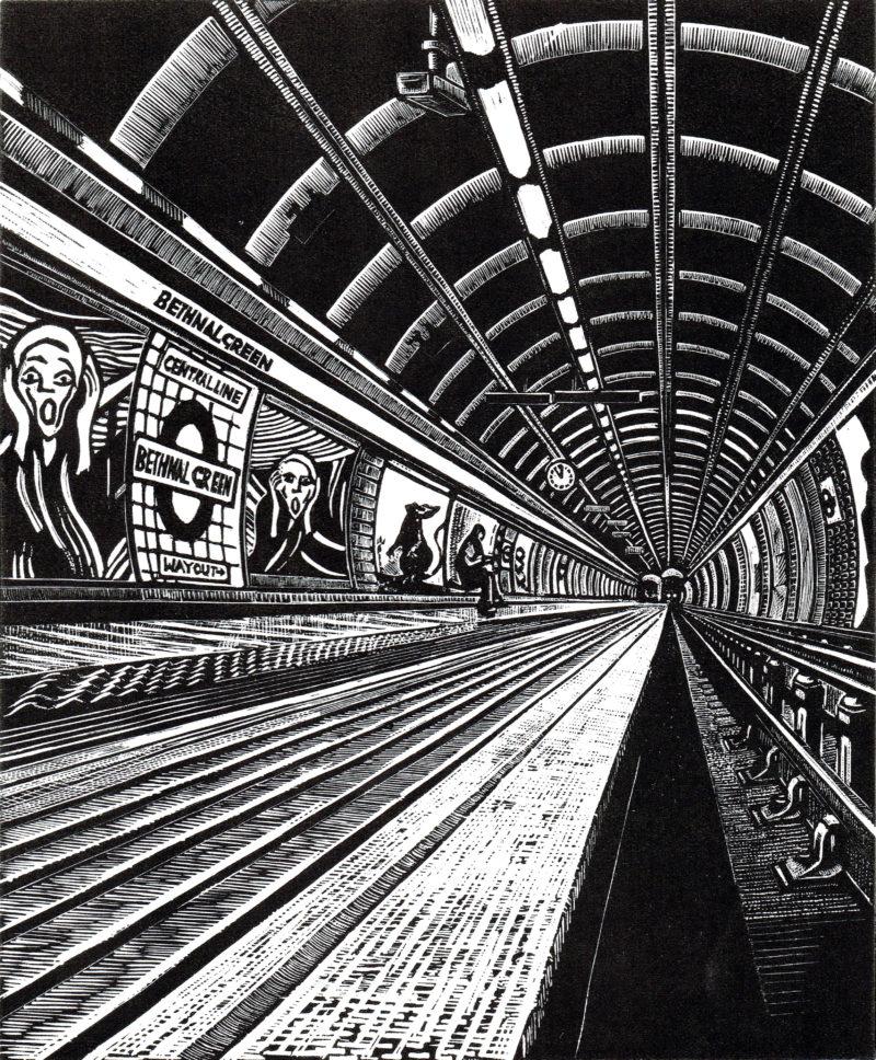bethnal greeun underground london print