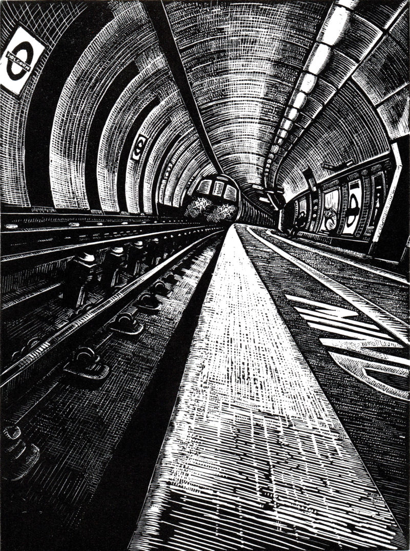 holborn tube station london print