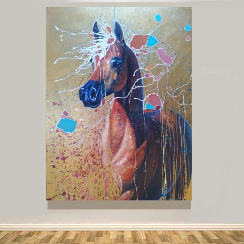 Art Nouveau Party Horse by gill bustamante