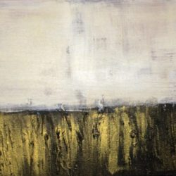 black and gold abstract painting on canvas