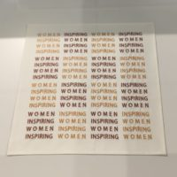 embroidered handkerchief by Mona Hatoum