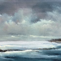panoramic original seascape painting.