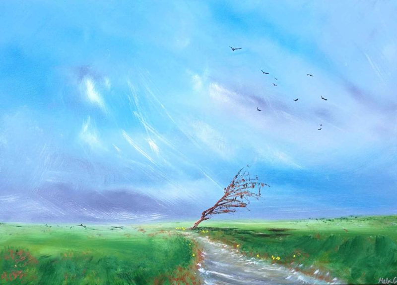 the tree - landscap epainting by contemporary artist melanie graham at rippingham art
