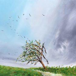 homeward bound landscape painting by artist melanie graham