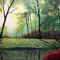 scenic landscape painting by aisha haider