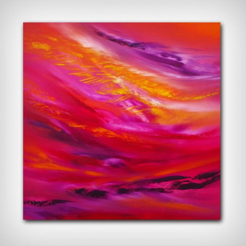 square abstract painting to buy at rippingham art