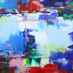 paresh nrshinga abstract rainbows painting