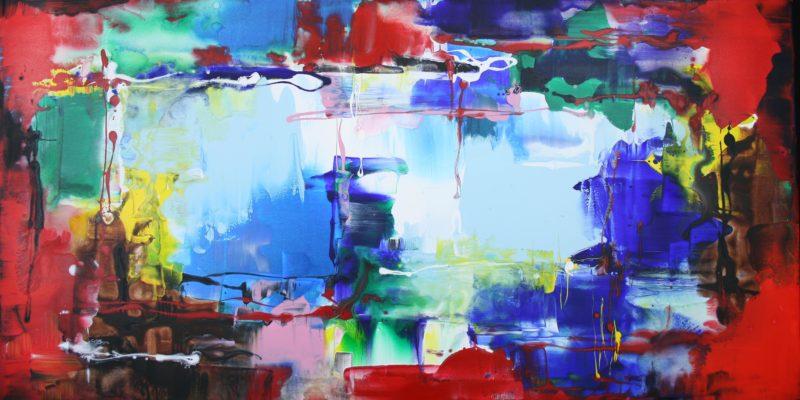 paresh nrshinga abstract rainbows painting