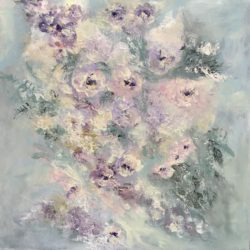lilac purple floral painting