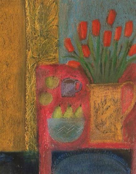 naive still life artwork